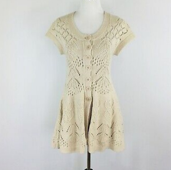 Anthropologie Sweaters - Anthropologie Sparrow Flowing Pointelle Cardigan S